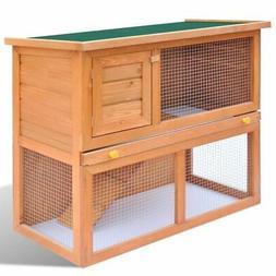 """36"""" Wooden Rabbit Hutch Cage Chicken Coop Hen House Pet Anim"""