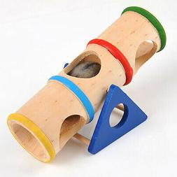 Wooden Small Pet Rat Toy Tunnel Tube Bridge Ladder Hamster B
