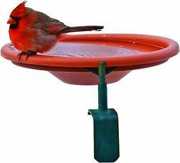 Audubon-woodlink 990997 Deck Mount Bird Bath - Red, 1 Qt. Ca