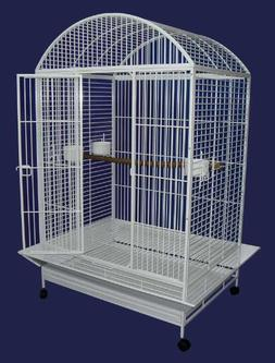 wrought iron bird cage parrot