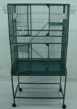 New Large Wrought Iron Bird Parrot Cage Cockatiel Conure Lar