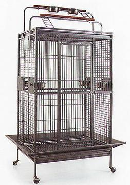 Large Wrought Iron Double Ladders Open Play Top Parrot Macaw