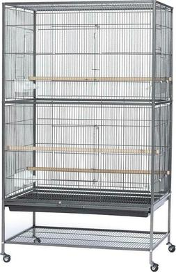 Prevue Pet Products Wrought Iron Flight Cage with Stand, Bla