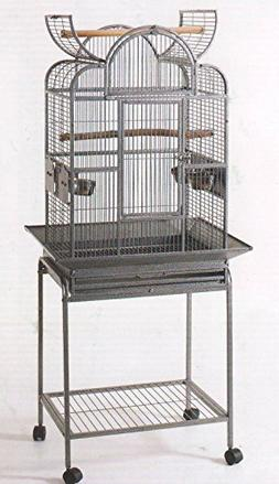 Wrought Iron Open Play Top Bird Small Parrot Cage With Metal