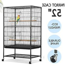 "Yaheetech 52"" Wrought Iron Standing Extra Large Bird Cage fo"
