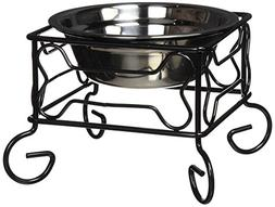YML 5-Inch Wrought Iron Stand with Single Stainless Steel Fe