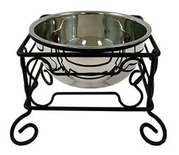 YML Wrought Iron Stand with Single Stainless Steel Feeder Bo