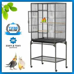 Wrought Iron Standing Large Bird Cage for African Grey Parro