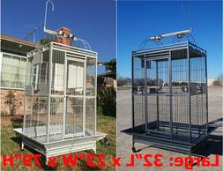 "X-Large 32""X23""X66""H For Large Parrot Macaw Cockatoo Cage Do"