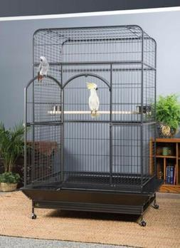X-Large 6 FT Iron Bird Cage W/Stand Finches Parakeets Parrot