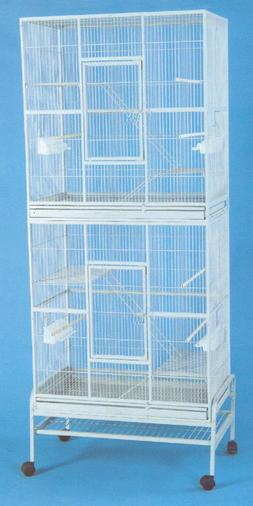 "X-LARGE 76"" Double STACKER Cockatiel Aviary Canary Budgie Gl"
