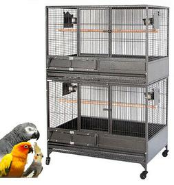 X-Large Double Stacker Heavy Duty Breeding Bird Parrot Cage