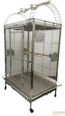 XL BIRD CAGE Play Top Stainless Steel Indoor Outdoor Parrot