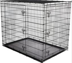 Frisco XX-Large Heavy Duty Double Door Dog Crate, 54-in. FRE