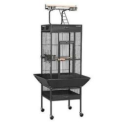 "Yaheetech 62"" Wrought Iron Select Black Bird Cage w/ Play To"