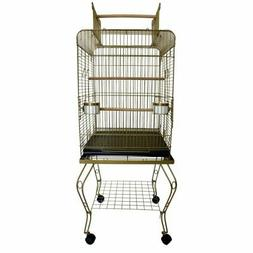 YML 20 in. Play Top Bird Cage with Stand