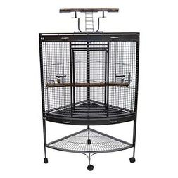YML 3/4 in. Bar Spacing Corner Wrought Iron Bird Cage