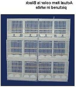 YML 6x2434BLK Lot of Six Small Bird Breeding Cages with Divi