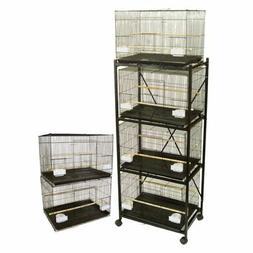 YML Lot of 6 Small Breeding Cages with Divider and One 4 Tie