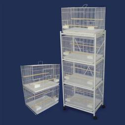 YML Lot of 6 Small Breeding Cages with One 4 Tier Stand