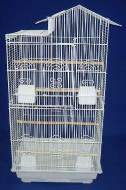 YML Villa Top Small  Bird Cage w/ 4 Feeder Doors; White